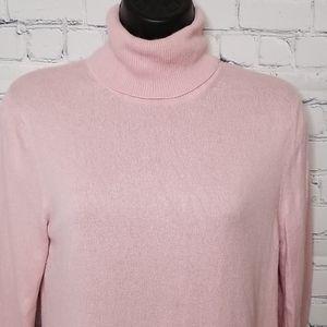 August Silk silkcashmere bleand turtleneck sweater